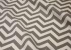 grey linen chevron table cover