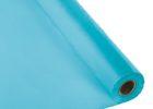 heavy duty turqoise plastic table cover rolls