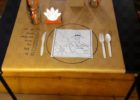 kraft brown paper table cover