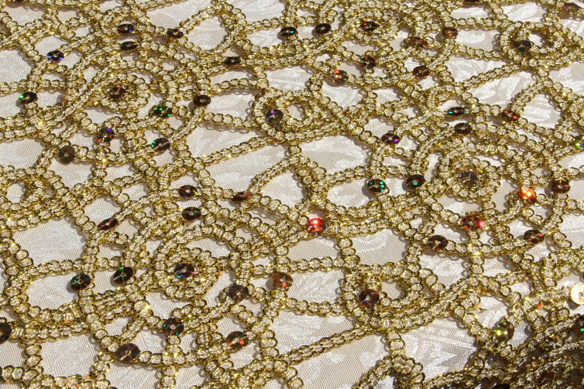 lace gold overlay tablecloth