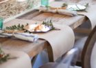 long brown paper roll table cover ideas