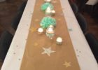 long plain brown paper table cover wedding