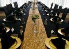 luxury gold runners for tables