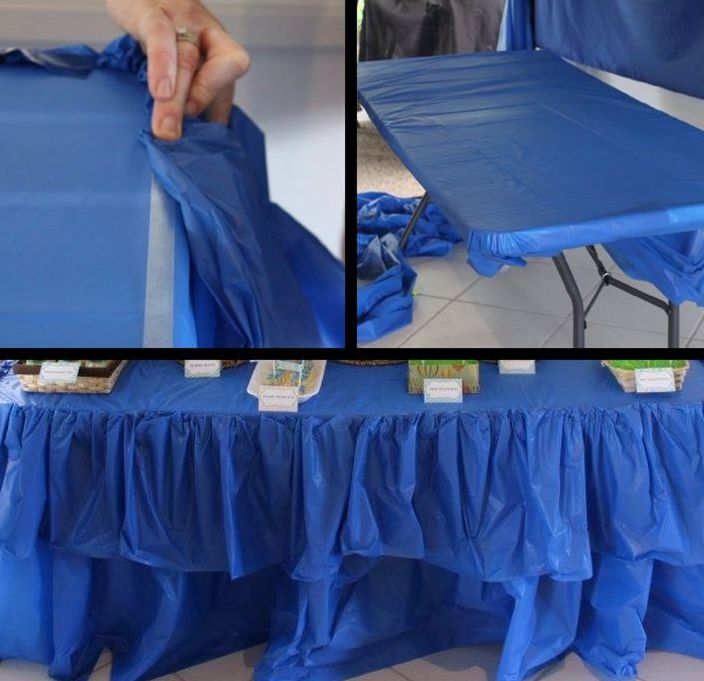 make blue fitted picnic table covers