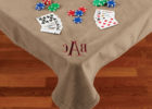 monogrammed card bridge table covers