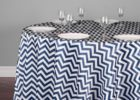 navy blue chevron table cover