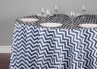 navy blue chevron table cover