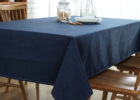 navy blue table covers for party