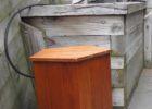 oak wood propane tank cover table