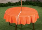 orange round zippered tablecloths