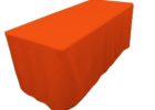 orange trade show fitted table covers
