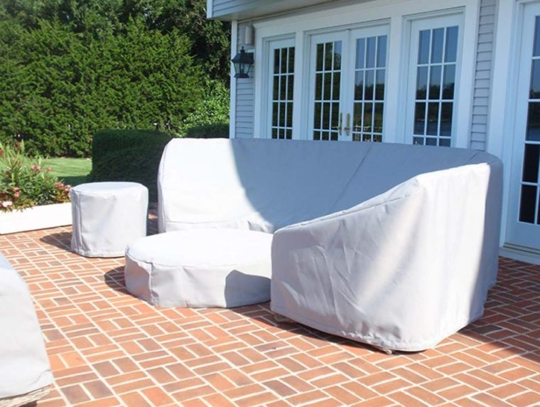 outside table covers white heavy duty