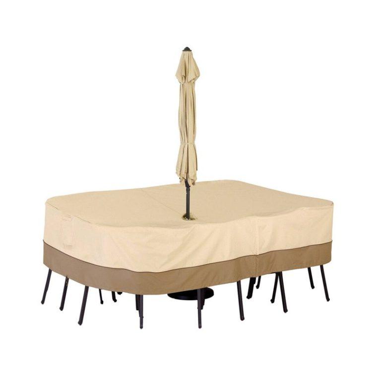 patio table cover with umbrella hole ideas