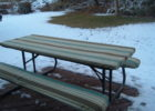 picnic table covers and pads bench for winter