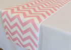 pink chevron table cover