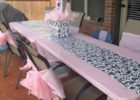 pink fitted plastic table covers banquet