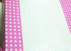 pink white polka dot table covers ideas