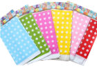 rainbow polka dot table covers plastic