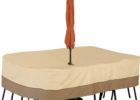 rectangle dining table patio table cover with umbrella hole