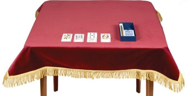 Bridge Table Covers Suede With Snaps