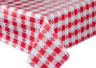 red edge elasticized table cover rectangle
