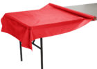 red plastic table cover rolls 300 feet