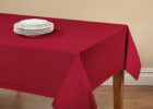 red vinyl elastic table covers