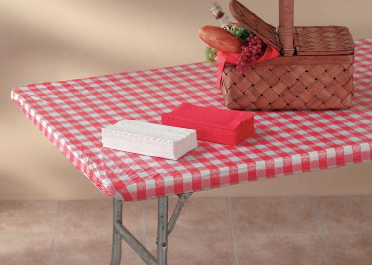 retro plastic table covers with elastic for picnic table