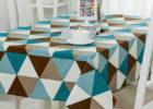 retro rectangular elastic picnic table covers