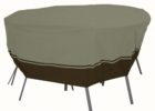 round 48 inch patio table cover with umbrella hole