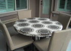 round and elasticized table cover rectangle (standard)