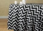 round black chevron table cover