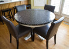 round black fitted vinyl table covers