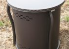 round black propane tank cover table