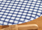 round blue and fitted elasticized table cover rectangle