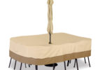 round dining set patio table cover with umbrella hole