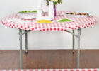round fitted plastic table covers cheap