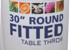 round fitted trade show fitted table covers