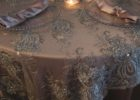 round gold overlay tablecloth