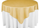 round gold overlay tablecloth sequin