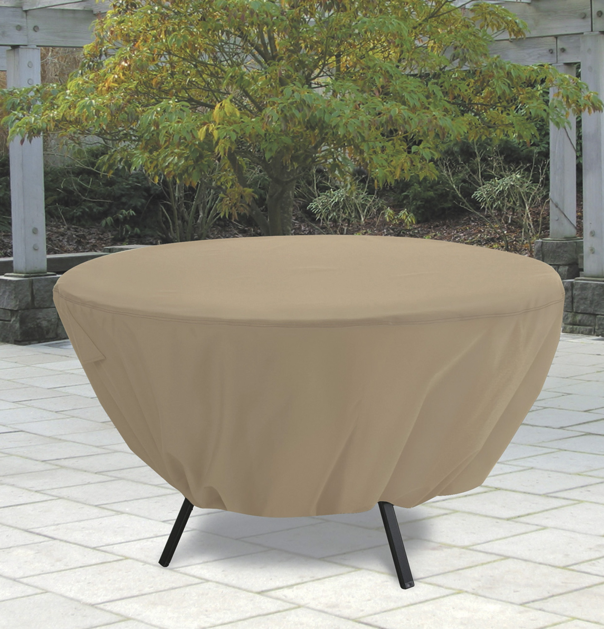 Round Patio Table Cover With Umbrella Hole