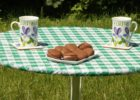 round plastic elastic picnic table covers outdoor