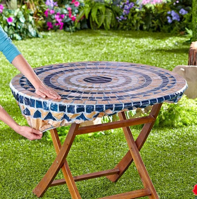 round vinyl fitted picnic table covers