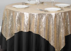 sequin gold overlay tablecloth