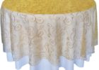 sheer gold overlay tablecloth lace