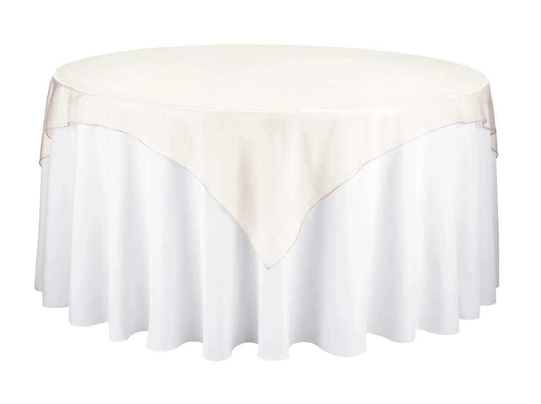 sheer gold overlay tablecloth