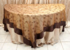 sheer lace gold overlay tablecloth