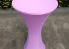 small purple plastic table covers with elastic