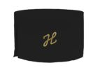 small round black custom fitted table covers with logo