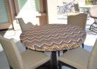 small round chevron table cover